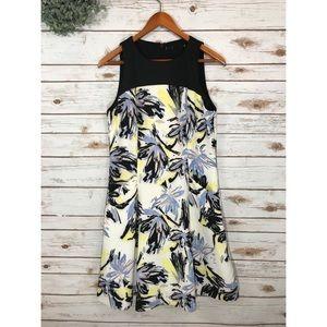 Dresses & Skirts - SLEEVELESS PINK & BLUE FLORAL DRESS